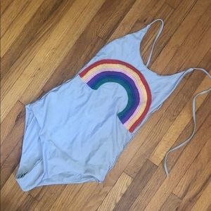 Lollipop swim rainbow one piece